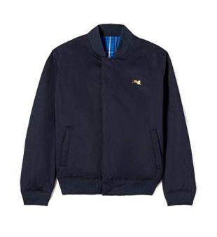 Jumping Tiger Crest Logo Reversible Bomber Jacket Midnight Blue