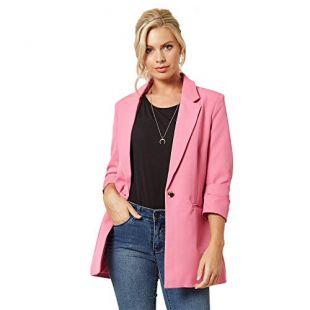 Women's Blazer 3/4 Sleeve Open Front Casual Ladies Office Blazers Casual Work Jacket Suit