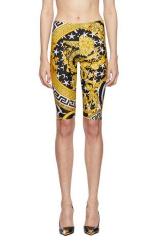 Versace - Multicolor Heritage Stamp Bike Shorts