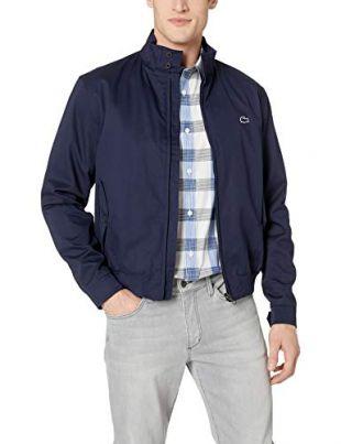 Lacoste Men's Lightweight Harrington Cotton Twill Jacket, Navy Blue, X-Small