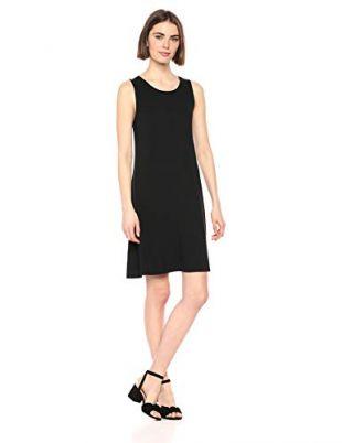 Amazon Essentials Women's Solid Tank Swing Dress, Black, XXL