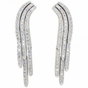 Diamond and Platinum Drop Earrings