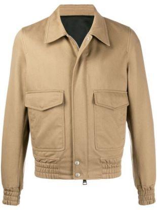Patch Pockets Zipped Jacket