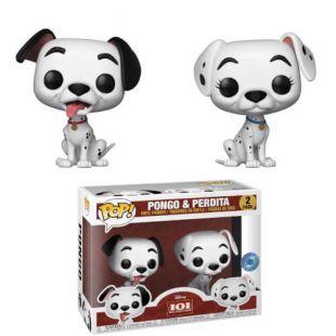 Lot de 2 Figurines Pop! Pongo & Perdita Disney 101 Dalmatiens- Exclusivité PIAB
