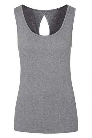 Mountain Warehouse Débardeur Vitality pour Femme - Haut sans Manches léger - Tee-Shirt Respirant - Dos découpé - Idéal pour la Gym, la Marche Gris 42
