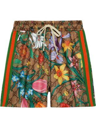 GG Flora Print Shorts