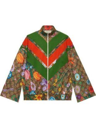 Flora GG Supreme Pattern Track Jacket
