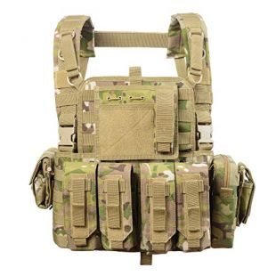 vAv YAKEDA Tactical Vest Military Chest Rig Airsoft Swat Vest for Men(Camouflage)