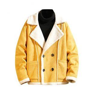 Sherpa Lined  Trucker Jacket  Yellow