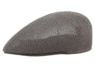 Men Women Mesh Flat Cap Duckbill Newsboy Beret Solid Ivy Cabbie Driving Hat Grey