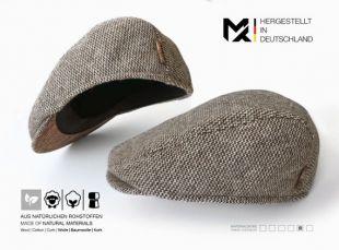 May-TIE Flat Cap - France 100% De laine Vierge avec Liège Style: Pure Nature (fr) fabriqué en Allemagne