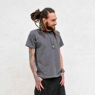 T-Shirt Sayagata - France Sacred Geometry Pattern Men Shirt Screen Print (en anglais)