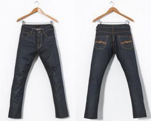 Pantalons en denim Mens NUDIE Jeans Pantalons Bleu foncé 30