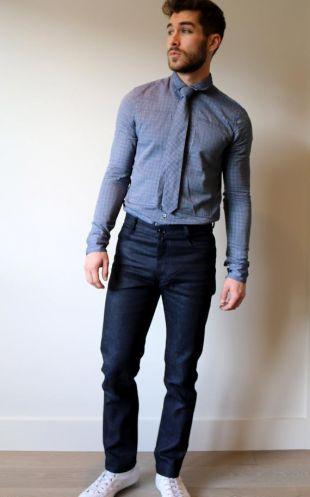 Denim bio pour homme, Jeans de façon éthique, pantalons en coton recyclé