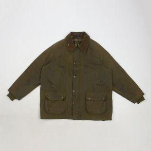 vintage Barbour A100 Bedale réparé veste cirée c48 XL OLIVE