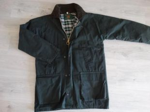 Veste en cire Royal Forest Country Wear Veste en tissu en cire Barbour Tartan Care Huntig Veste vintage Olive Jacket Size M Made in England