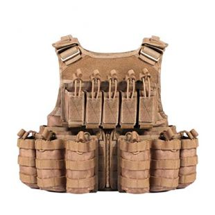 TWTD-TYK Tactical Vest, Combat Vest, Combat Vest,Multi-Function Outdoor Live-Action CS Field Training Suit Set Equipmen