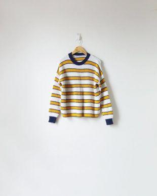 90s Navy - Gilet jaune - Pull vintage - Pull des années 90 - Femmes XL