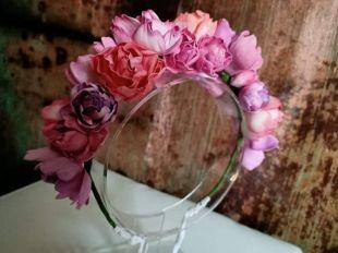 Couronne florale de mariage, bandeau floral unique, grande couronne florale, couronne florale de boho, bandeau rustique de mariage