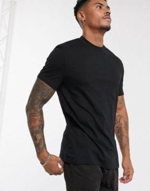 T-shirt ras de cou en tissu bio - Noir