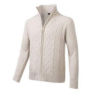Beige Zip-up Sweater