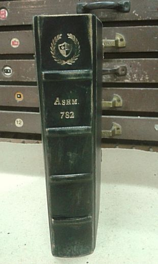 Ashmole 782 Replica, Prop, a discovery of witches, genuine leather, blank pages.