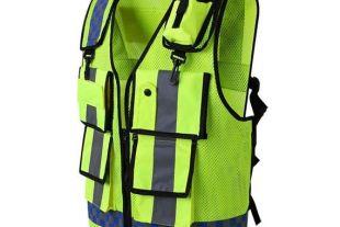 Veste de sécurité haute visibilité - Veste réfléchissante Haute Vis de qualité supérieure avec bandes fluorescentes à l'avant et à l'arrière -