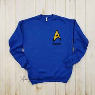Star Trek badge or Pocket - Star Trek shirt, Starfleet, Captain Kirk, Mr Spock, Captain Picard, Bat Leth, Trekkie, Scifi tee, Geek shirt.