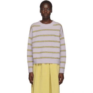 Purple Striped Mohair Sweater