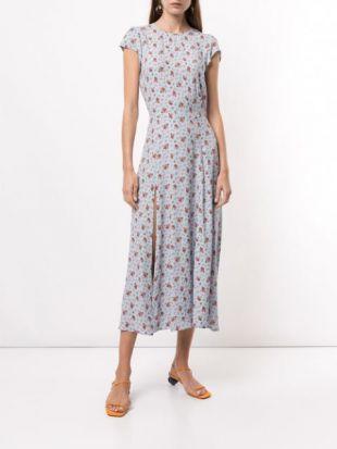 Floral-Print Midi-Dress