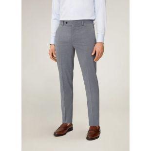 Pantalon de costume slim-fit microstructure