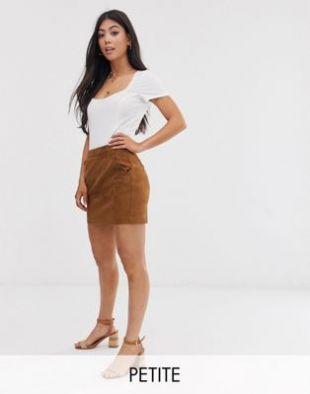 Mini-jupe imitation daim