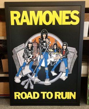 Ramones Road To Ruin lp couvrir 20x30 affiche encadrée
