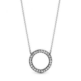 Ladies Logo Necklace 925 sterling Silver Pendant 590514CZ-45