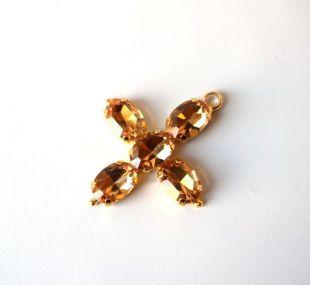 Jane Austen Cross Pendant Replica, Austen Cross, Jane Austen Cross, Regency Cross, Regency Necklace, Regency Jewelry, Topaz Paste Jewelry
