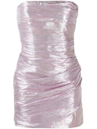 Silk Voile Lame Mini Dress
