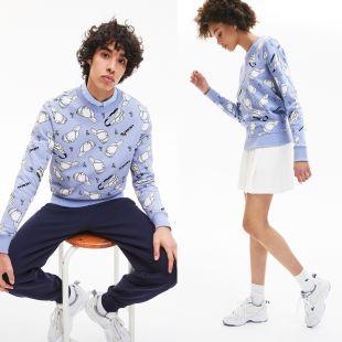 Sweatshirt unisexe Lacoste LIVE en molleton à motifs urbains