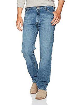 Wrangler Authentics Men's Classic 5-Pocket Regular Fit Jean, Vintage Blue Flex, 36W x 34L
