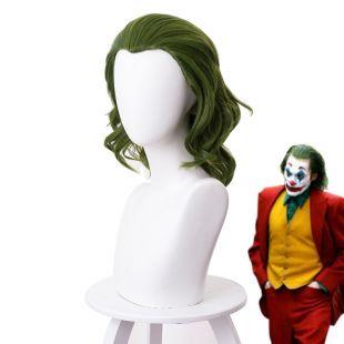 2019 Joker origine film Clown Joker perruque Cosplay déguisement Joaquin Phoenix Arthur Fleck bouclés vert résistant à la chaleur cheveux synthétiques|Costumes anime|   - AliExpress