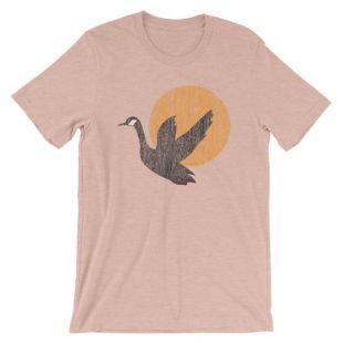 Oiseau à manches courtes T-Shirt unisexe