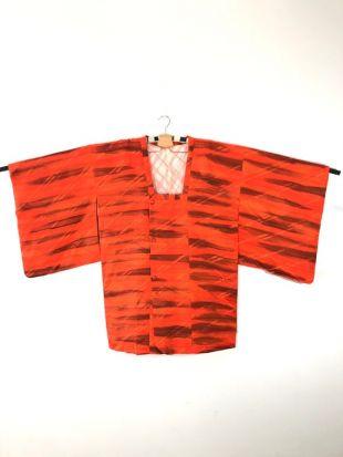 Kimono Haori Orange Color Nice Design
