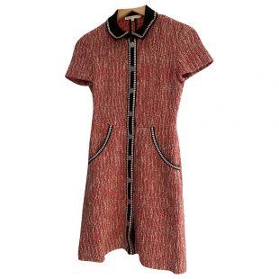 robe maje en tweed rouge