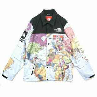 Supreme x The North Face EXPEDITION Coaches Jacket Map