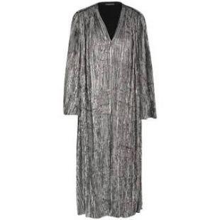 Robe plissée en velours