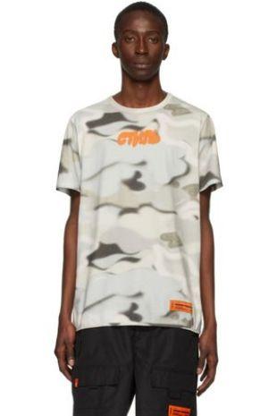 T-shirt à motif camouflage multicolore 'Style