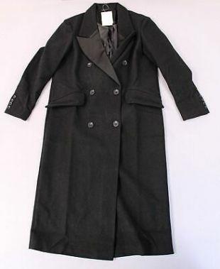 Tuxedo Maxi Coat in Black
