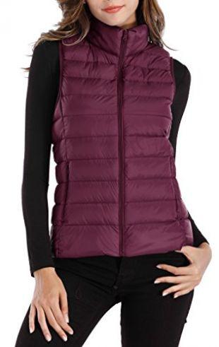 Sarin Mathews Womens Packable Ultra Lightweight Down Vest Outdoor
