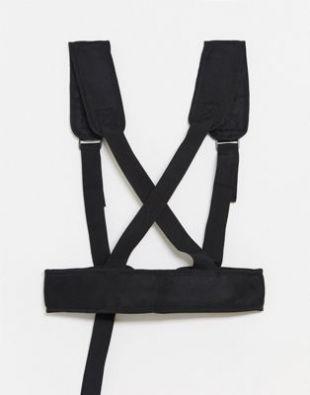 Harnais fonctionnel avec bretelles en toile - Noir