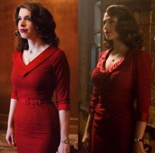 Agent Carter / captain america red cosplay inspired custom made dress retro