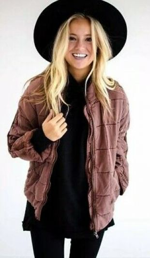 Dolman Quilted Slouchy Jacket Terracotta Lyocell
